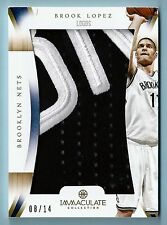 BROOK LOPEZ 2012/13 PANINI IMMACULATE NUMBERS LOGOS GAME USED 2 COLOR PATCH /14