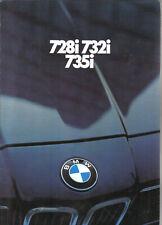 BMW 7 Series 728i 732i 735i E23 1980 UK Market Brochure