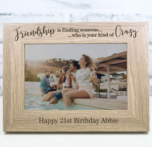 Personalised Engraved Wooden Photo Frame Birthday Gift 18th 21st 30th 40th