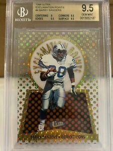 1998 Ultra Exclamation Points Barry Sanders #4 Rare Insert BGS 9.5 Gem MT Lions
