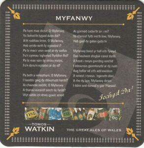 BEER MAT - TOMOS WATKIN ALES - MYFANWY - (Cat No 009) - (2009)