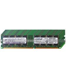 Micron 4GB KIT 4x1GB PC3200 DDR 400Mhz 184Pin Desktop PC DIMM Memory Low Density