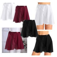 Adult Women Girl Chiffon Dance Ballet Wrap Skirt Leotard Tutu Wrap Scarf Dresses