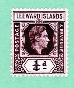 Leeward Islands 1 stamp, SC 103, KGVI, 1938, MPH