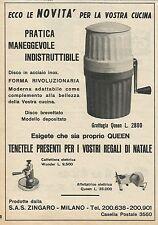 W8330 Grattugia Queen - Caffettiera elettrica Wunder - Pubblicità 1962 - Advert.
