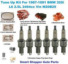 Tune Up Kit for BMW 32Si Spark Plug, Distributor Cap Rotor Drive Belt Air Filter