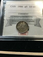 1904   Coin Mart Graded Canadian,  ¢5 Cent, **EF-45**