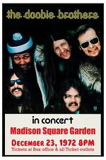 Doobie Brothers at Madison Square Garden New York Concert Poster 1972