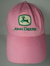 JOHN DEERE Farm Agriculture Advertising PINK & GREEN ADJUSTABLE WOMENS HAT CAP