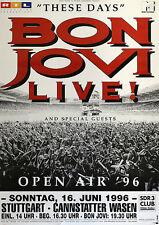 Original Konzertplakat  Bon Jovi 19 Juni 1996 Stuttgart Cannstatter Wasen
