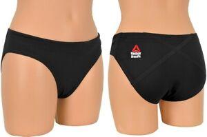 Reebok CrossFit Paddle Brief Mädchen Badehose Bikini Unterteil Hose schwarz NEU