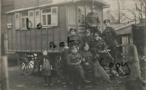 WW1 soldier group ASC Army Service Corps horse drawn caravan