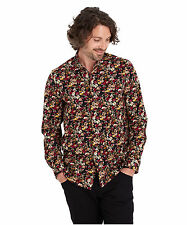Cotton Blend Floral Casual Shirts & Tops for Men