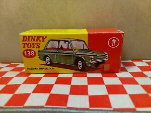 Dinky 138 Hillman Imp Saloon  EMPTY    Reproduction  Box  ONLY NO CAR