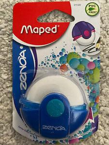 Maped Stylish Zenoa Rotary Eraser Rubber with Protective Case -School Stationery