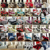 Luxury Duvet Cover With Pillow Cases Quilt Cover Bedding Set In All Sizes