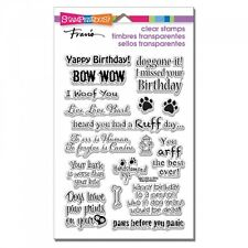 STAMPENDOUS RUBBER STAMPS CLEAR DOG SAYINGS NEW clear STAMP SET
