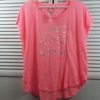 Ladies Pink T-Shirt LIVE LOVE DREAM by Aeropostale Size M