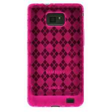 AMZER Luxe Argyle TPU Skin Case for Samsung GALAXY S II GT -I9100 - Hot Pink