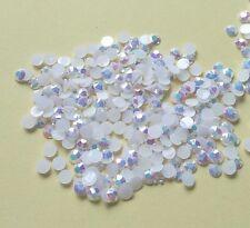 DIY 500pcs 4mm white Facets Resin Rhinestone Gems Flat Back Crystal beads 151