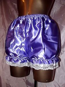 NEW  FRILLY LACED PURPLE BLOOMER PANTIES SIZE MED 12/14 UK