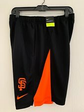Nike SF Giants MLB Shorts Black Orange Medium Training 35604x-gs1 NWT Pockets
