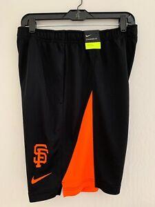 Nike SF Giants MLB Shorts Black Orange Medium Training 35604x-gs1 NWT Pockets