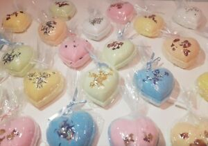 1 x Large heart shaped bath bombs - best seller favourites - UK made