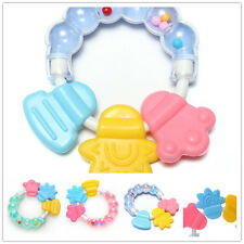 Silicone Bell Baby Rattle Teether Infant Tooth Care Rattles Pacifier Toy