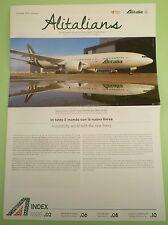 House organ ALITALIA giornale interno Boeing 777 nuova livrea 01/16 nuovo CEO ax