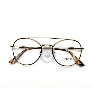 PRADA Eyeglasses frame Journal Gold 55U 7OE 51-19-140 no case
