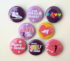 8 FIGURE SKATING Buttons Pinbacks Badges 1 inch Ice Skating