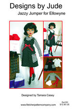 Jazzy Jumper Doll Clothes Sewing Pattern for Ellowyne Wilde , Tonner