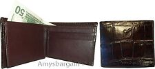 Crocodile Skin Printed Leather man's Bifold wallet, ID, 2 billfolds New Lot of 2