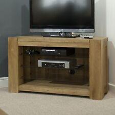 Padova solid oak furniture corner television cabinet stand unit