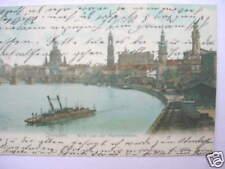 5665 AK Dresden Transportdampfer Kettenschiff Schiff Hafen Bahnanlagen 1907