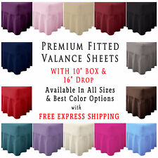 "Fitted Valance Sheet 26"" Extra Deep Bedding Pleated Box Single Double King Super"