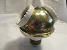 Antique Benjamin Brass Cluster Porcelain Double Light Bulb Lamp Socket