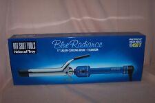 "Helen of Troy Hot Shot Tools Blue Radiance 1"" Salon Curling Iron - Titanium NEW"