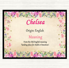 Chelsea Name Meaning Mouse Mat Pad Floral