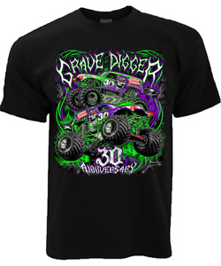 Mens Novelty T Shirt Monster Jam Monster truck Grave Digger Adult Shirt