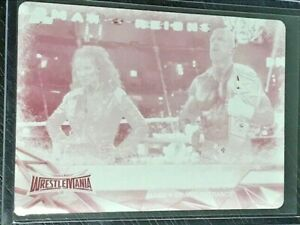 Triple H & Steph McMahon 2017 Topps WWE Road to Wrestlemania Printing Plate 1/1