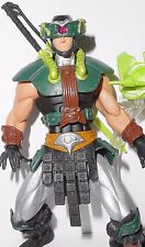 Masters of the universe 2002 Tri-klops complete motu DARK GREEN repaint he-man