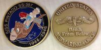 NAVY USS PINTADO SS-387 SUBMARINE DEATH FROM BELOW CHALLENGE COIN