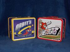 Lot of (2) Vintage Akron Aeros Orbit's Lunchbox SGA Excellent Cleveland Indians