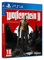 Wolfenstein 2 II The New Colossus PS4 Excellent - Super Fast Delivery