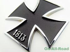 Metal 1813 Iron Cross Tank Emblem Badge Decal For Harley Sportster 883 1200 XL