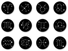 Lot Pack Magnet Aimant Ø38mm Constellation Zodiaque Signe Astrologique