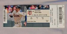 Minnesota Twins Vs Toronto Blue Jays 5/29/15 Ticket Stub Josh Donaldson Home Run