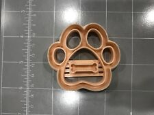 Dog Paw With Dog Bone Imprint Cookie Cutter